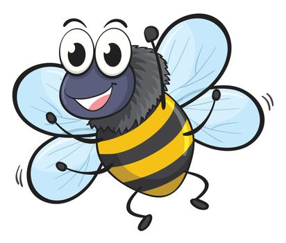 illustration of a bee on a white background