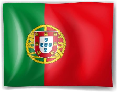 Illustration of the flag of Portugal on a white background