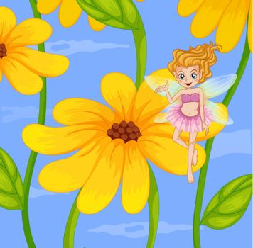 Illustration of a flower fairy