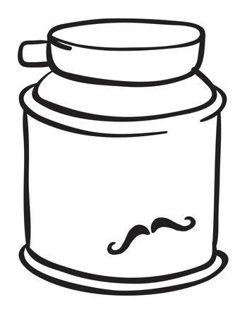 Illustration of a shaving cream on a white background