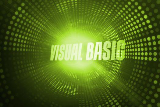 Visual basic against green pixel spiral