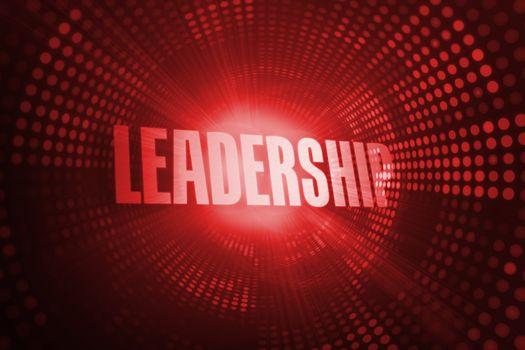 Leadership against red pixel spiral