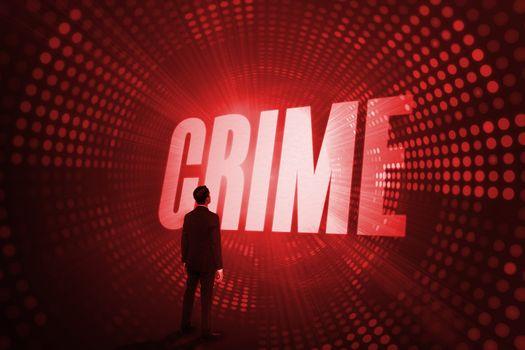 Crime against red pixel spiral