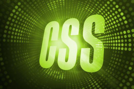 Css against green pixel spiral