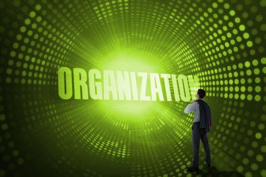 Organization against green pixel spiral