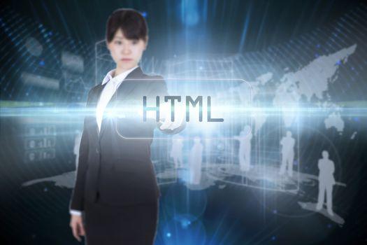 Html against futuristic black background