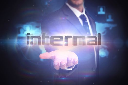 Internal against futuristic technology interface