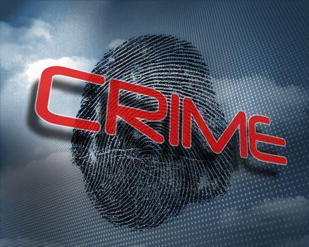 Crime against fingerprint in sky