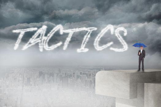 Tactics against balcony overlooking city