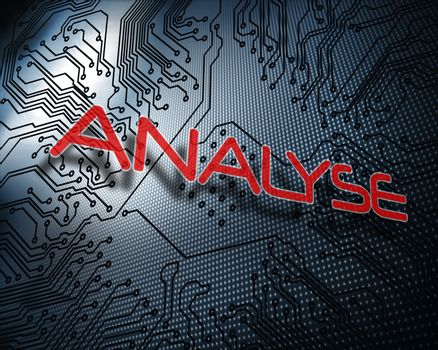 Analyse against illustration of circuit board