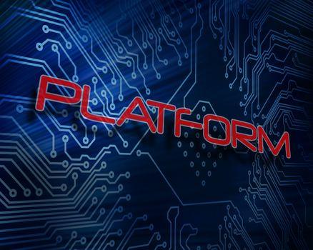 Platform against digital circuit board