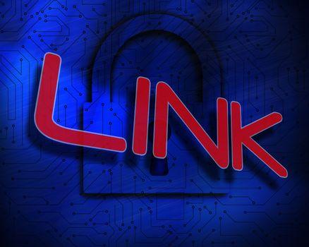Link against lock on digital background