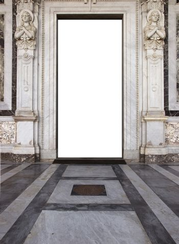 church door  in saint paolo basilica in rome
