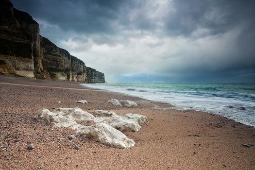 Atlantic ocean beach and cliffs