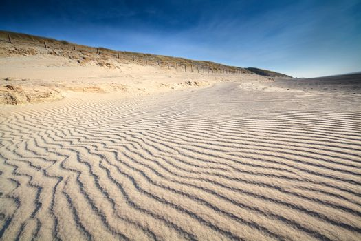 sand wave texture on North sea beach