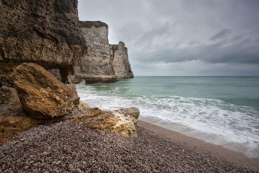 Atlantic ocean coast in France