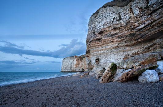 cliffs on Atlantic ocean coast