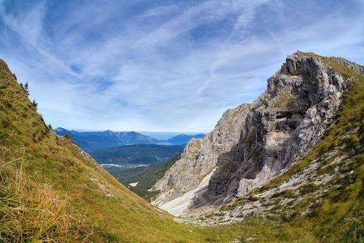 rocks on Karwendel mountain range
