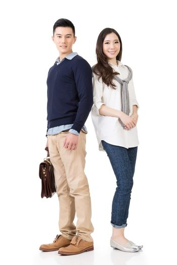 Young attractive Asian couple