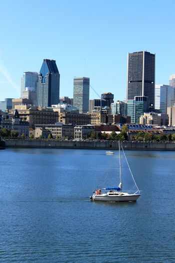 Boating downtown Montreal, Quebec, Canada