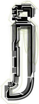 technological font. LETTER j