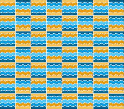 Summer mosaic pattern