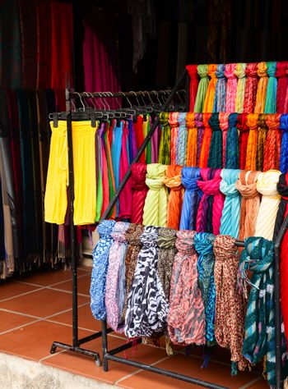 Silk shop stall