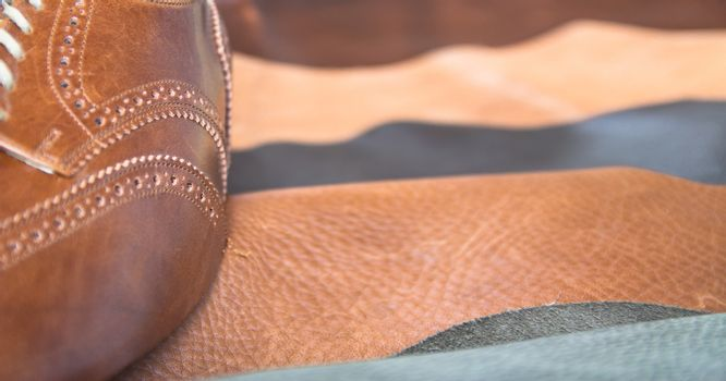 Man business shoe leather