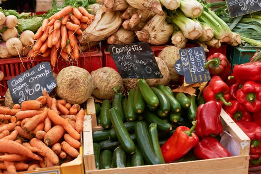 Vegetables on Provence market