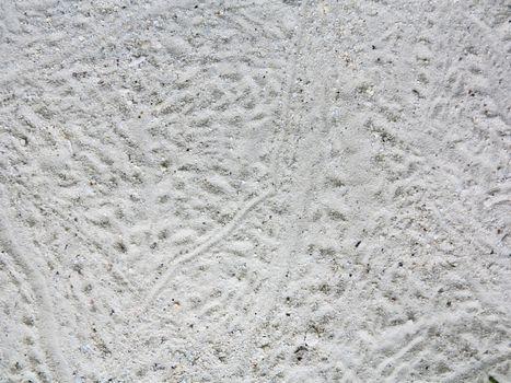 Tropical ripple white sand beach