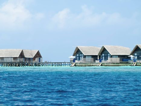 Water villas on the perfect tropical island