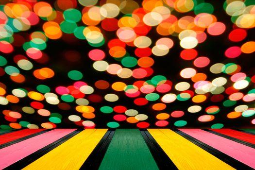 Multicolored defocused bokeh lights background