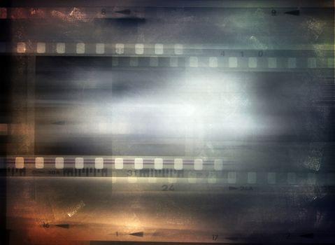 Film strips background, copy space