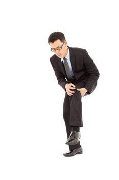 businessman having  the knee pain