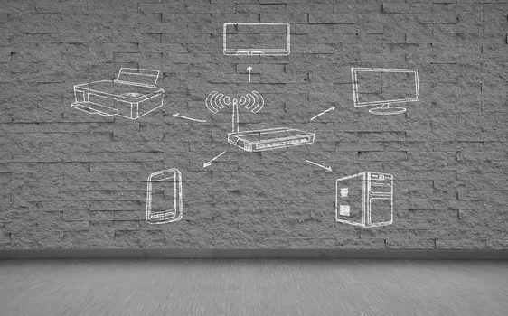 drawing wi-fi scheme