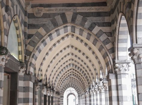Via XX Settembre colonnade in Genoa