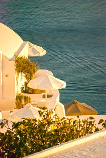 Oia Santorini Greece famous with romantic and beautiful sunsets