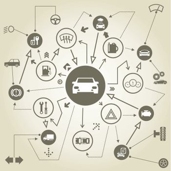 Transport on the scheme. A vector illustration