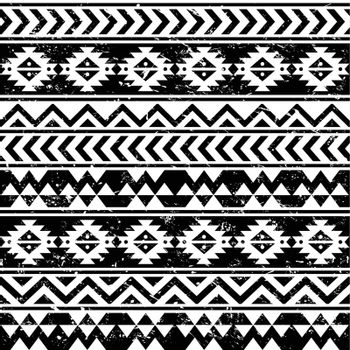Vector seamless retro aztec ornament, ethnic background