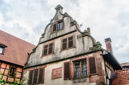 Top of a house in alsace