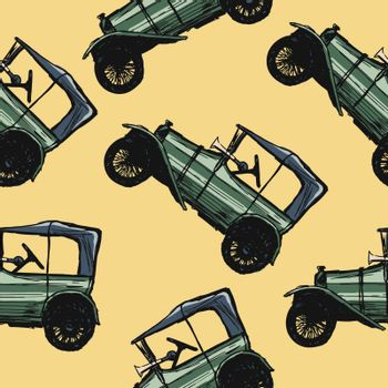 coloured seamless pattern with motive of automobile