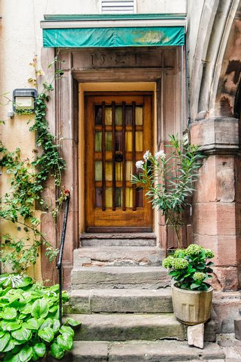 Doorway of a Beautiful Old House