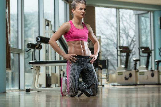Portrait Of A Physically Fit Muscular Young Woman