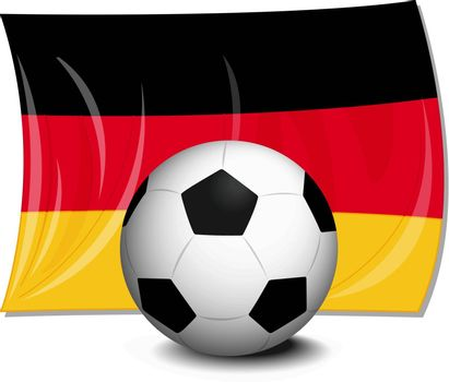 illustration of flag of germany and football