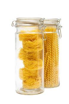 pasta in glass jar