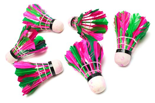 shuttlecock with feathers
