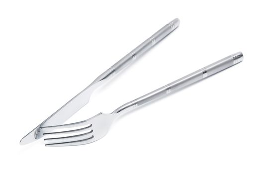 steel knife and fork