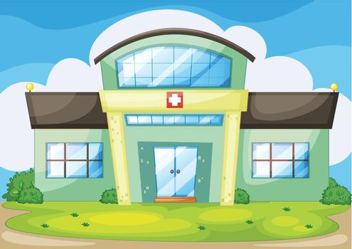 illustration of a modern hospital
