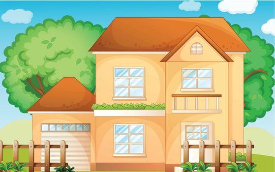 Illustration of a suburban house