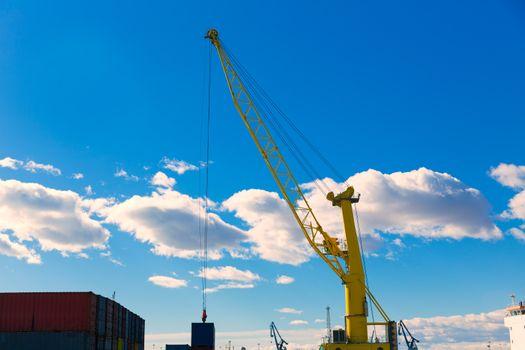 Sagunto port dock crane in Valencia